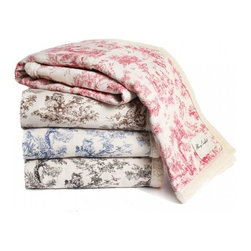 Toile Blanket - I am completely in love with these toile dog blankets. My dog Kingsley sleeps in a crate at night, and sometimes it gets cold and not very cozy in there. This blanket would be the perfect way to make his bed a true sanctuary.