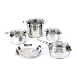 Cristel Casteline Stainless Steel 13-Piece Cookware Set, Removable Handle