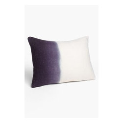 Diane von Furstenberg Spanish Leopard Purple & Ivory Ombré Wool Throw Pillow - Not ready to paint? Or need an accent in your newly plum painted room? All hail the toss pillow!