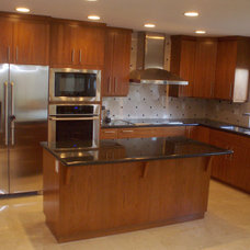 Contemporary Kitchen Cabinetry by Frontier Cabinets, Inc.