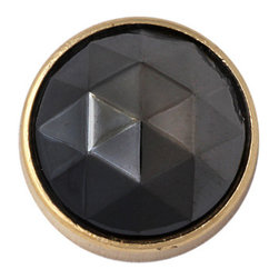Black Diamond Upholstery Tack in Gold Setting, 15mm - Ebony gemstones that glitter like stars in a wide open night sky, our Black Diamond heads bestow dramatic flair to any furnishing.