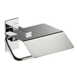 Cristal Toilet Paper Holder with Lid