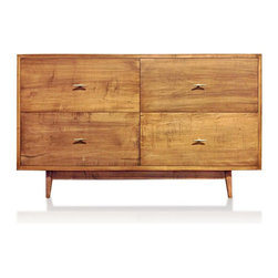 Kingston Krafts - Modern Danish Style Dresser - The Danish Style Dresser is everything you want in a piece of furniture. Made of solid New England maple with a satin lacquer finish, it's well made and meant to last. The versatile style goes with your vintage or modern decor.
