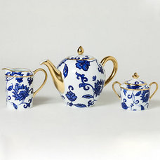 traditional serveware Bernardaud Prince Bleu Tea & Coffee Service