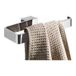 Gedy - Square Polished Chrome Towel Ring - Modern square brass towel ring or towel holder in a polished chrome finish.