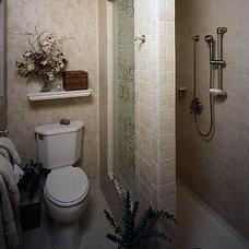 Traditional Bathroom by Angie Keyes CKD