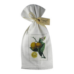 Lemon Slice    Flour Sack Towel  Set of 2 - A fabulous set of 3 flour sack towels. This set features a wonderful antique botanical print of a Lemon Slice   These towels are printed in the USA by American Workers!