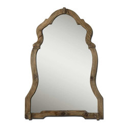 Uttermost - Uttermost Agustin Mirror- 7632 - This ornate mirror features a light, walnut stained wood frame with burnished details.