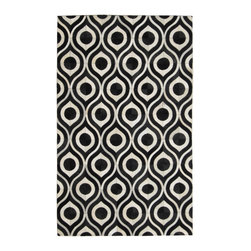 Madisons Inc. - Black & Cream Modern Eye Patterned Cowhide Rug, 4' X 6' - The Black and Cream Eye Cowhide Rug is a natural hair-on-hide area rug that has been made in India. The design, composed of natural black and cream cowhide, makes an elegant statement of sophistication in any well-appointed modern or contemporary space. This rug is reserved for those who relish high design and style, as it is made by highly-skilled artisans. The cowhide has been ethically sourced in India and tenders shorter hair than those from other parts of the world as a result. Not only does this piece make a statement, but sustains the livelihood of many villages in India from which they are produced.