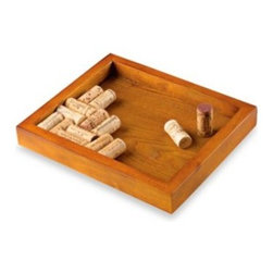 Wine Enthusiast - Wine Enthusiast Wine Cork Trivet - Perfect for the wine connoisseur, this kitchen trivet will protect surfaces from hot pots while displaying the corks from your favorite wines. Includes oak frame and instructions.