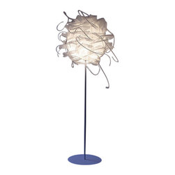 """Luz Diffusion - Luz Diffusion Struk Floor Lamp - The Struk floor lamp from Luz Diffusion was designed by Ricard Estruch in 2006.  Each fixture is made by hand.  The Struk has a circular structure of plastic mesh that diffuses light.  The next layer is made of scraps of polyethylene mesh that is stiffer and wider that have been moulded with hot air.  Several strips of plastic are then threaded at random into the holes of the mesh. The material is fireproof. This high quality floor lamp is made in Spain and features the highest standards in materials and craftsmanship.    Product description: The Struk floor lamp from Luz Diffusion was designed by Ricard Estruch in 2006.  Each fixture is made by hand.  The Struk has a circular structure of plastic mesh that diffuses light.  The next layer is made of scraps of polyethylene mesh that is stiffer and wider that have been moulded with hot air.  Several strips of plastic are then threaded at random into the holes of the mesh. The material is fireproof. This high quality floor lamp is made in Spain and features the highest standards in materials and craftsmanship.                 Details:                         Manufacturer:                        Luz Diffusion                                                 Designer:                        Ricard Estruch                                         Made in:                        Spain                                         Dimensions:                        Width: 19.7"""" (50 cm) X Height: 70.8"""" (180 cm) X Base: 17.7"""" (45 cm)                                         Light bulb::                        1 X 100 W E27 Halogen                                         Material:                                                                                                            Metal, Plastic, Polyethylene"""