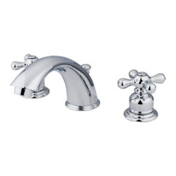 """Kingston Brass - Two Handle 8"""" to 16"""" Widespread Lavatory Faucet with Retail Pop-up KB971X - Two Handle Deck Mount, 3 Hole Sink Application, 8"""" to 16"""" Widespread, Fabricated from solid brass material for durability and reliability, Premium color finish resists tarnishing and corrosion, 1/4 turn On/Off water control mechanism, 1/2"""" IPS male threaded inlets with rigid copper piping, Duraseal washerless cartridge, 2.2 GPM (8.3 LPM) Max at 60 PSI, Integrated removable aerator, 5-3/4"""" spout reach from faucet body, 4"""" overall height.. Manufacturer: Kingston Brass. Model: KB971X. UPC: 663370001505. Product Name: Two Handle 8"""" to 16"""" Widespread Lavatory Faucet with Retail Pop-up. Collection / Series: Victorian. Finish: Polished Chrome. Theme: Classic. Material: Brass. Type: Faucet. Features: Drip-free washerless cartridge system"""