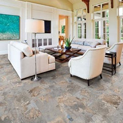 Slate Effect - Porcelain - Alpine Slate - Multi Tan