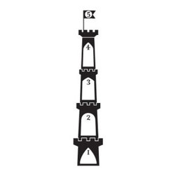 Castle Tower Vinyl Growth Chart - The princess in your home would love this to keep track of her growth. Imagine her eyes lighting up when she sees a castle on her wall! This vinyl sticks right to the wall and comes in over 50 different colors.