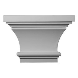 """Ekena Millwork - 13""""W x 8 7/8""""H x 4""""P Classic Capital - 13""""W x 8 7/8""""H x 4""""P Classic Capital. Our appliques and onlays are the perfect accent pieces to cabinetry, furniture, fireplace mantels, ceilings, and more. Each pattern is carefully crafted after traditional and historical designs. Each polyurethane piece is easily installed, just like wood pieces, with simple glues and finish nails. Another benefit of polyurethane is it will not rot or crack, and is impervious to insect manifestations. It comes to you factory primed and ready for your paint, faux finish, gel stain, marbleizing and more."""