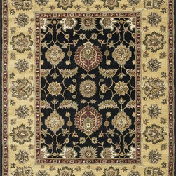 Loloi Rugs - Loloi Rugs Maple Collection - Black / Gold, 8' x 11' - Transform your home into a manor steeped in elegance and tradition with the majestic Maple Collection. These timeless Persian designs carry the rich heritage of centuries of carpet making in each arabesque, stylized flower and intricate border. Maple Collection rugs are hand-tufted in India of 100-percent wool so they are eco-friendly and mindfully crafted with sustainable materials. With colors as rich as these, you will feel like nobility every time you walk into your home.