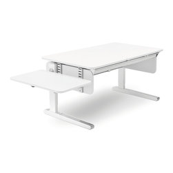 Moll - Champion Kids Desk Side Top Extension - A little extra support on the sidelines can make all the difference. This desk extension attaches to either side of your Champion Kid's Desk, adding an extra 29 inches that can hold a printer, as well as offer more creative space for writing or craft projects.