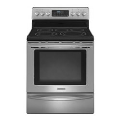 """KitchenAid - Architect Series II KERS208XSS 30"""" Freestanding Dual Fuel Range with 5 Burners - This 58 cu ft oven capacity range features a convertible rack to accommodate multiple dishes at once and an EasyConvect conversion system for precise convection cooking"""
