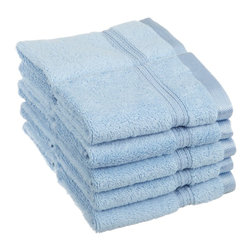 Superior Egyptian Cotton 10pc Light Blue Face Towel Set - You can never have enough face towels!  Make sure you pick up a pack when planning to have guests or sending that student away to college. Towel Set includes: Ten Face Towels-13x13 each.