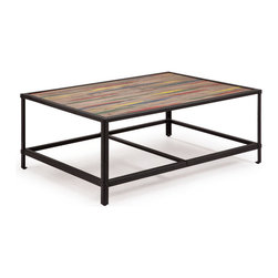 Zuo Modern - Zuo Modern Sawyer Coffee Table in Multicolor Distressed Natural - Coffee Table in Multicolor Distressed Natural belongs to Sawyer Collection by Zuo Modern Coffee Table (1)
