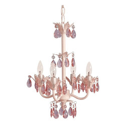 Tadpoles Sleeping Partners 4 Bulb Flower Chandelier - Available in pink or white colors