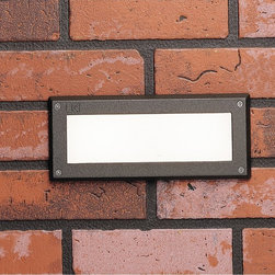 "Kichler - Contemporary Kichler Landscape LED 9 1/2"" Wide Bronze Brick Light - This contemporary LED brick light in textured architectural bronze finish is designed to be integrated into an exterior wall during construction. The 2700K color temperature LED array casts a wonderful warm white light diffused with pure white acrylic that will illuminate walkways porches poolside lounge areas and much more. A beautiful and functional outdoor LED fixture from Kichler landscape lighting. 12-volt landscaping LED brick light. Textured architectural bronze finish. Metal construction. White acrylic diffuser. UL-listed for wet locations. Includes two 1 watt integrated LED arrays (2 watts total). 2700K color temperature warm white light. Light output is comparable to a 20 watt incandescent bulb. 9 1/2"" wide. 3 3/4"" deep. 4"" high.   12-volt landscaping LED brick light.  Textured architectural bronze finish.  Metal construction.  White acrylic diffuser.  UL-listed for wet locations.  Includes two 1 watt integrated LED arrays (2 watts total).  2700K color temperature warm white light.  Light output is comparable to a 20 watt incandescent bulb.  9 1/2"" wide.  3 3/4"" deep.  4"" high."