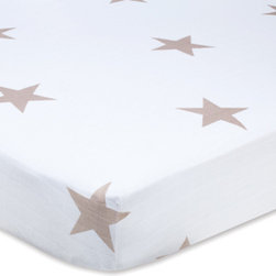 Super Star Scout Fawn Star Classic Crib Sheet - I love the muted tone of the stars and, of course, the fact that these sheets are made of the softest muslin.