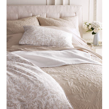 """Pine Cone Hill - Pine Cone Hill Each Standard Rosary Sham - Louisa bed linens, dressed up with tiny tucks, embroidery, and 3"""" ruffles, come in your choice of white or ivory. 200-thread-count cotton. Duvet covers have hidden button closure; shams have tie closure. Gathered dust skirts have split corners and...."""