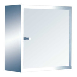 Renovators Supply - Metal Cabinet Bright Stainless Steel Key Cabinet 8 3/4'' H | 13524 - Don't loose those keys again! Made of 100% stainless steel inside and out this cabinet is compact and built to last. Measuress: 8 3/4 inch H x 7 1/4 inch W x 2 1/4 inch projection.
