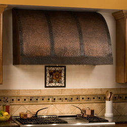 """48"""" Chaucer Series Copper Wall-Mount Range Hood - Add a designer look to your kitchen with the 48"""" Chaucer Series Copper Wall-Mount Range Hood."""
