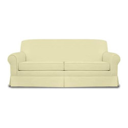 Fairfield Chair Company - Sofa w Tight Back (Fabric: Amber) - Fabric: Fabric: AmberTight back loose seat. Made from hardwood and fabric. Seat Height: 19.5 in.. Arm Height: 25.5 in.. Seat Depth: 20 in.. Inside Width: 68 in.. Overall: 85 in. L x 36.5 in. W x 36 in. H