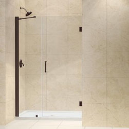 "DreamLine - DreamLine Shower Door with 18"" Stationary Panel and Support Arm (Walk-in width 4 - Shower Door with 18"" Stationary Panel and Support Arm (Walk-in width 42"" - 43"")"