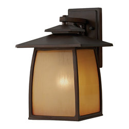 Feiss - Feiss OL8502SBR Wright House 1 Light Sorrel Brown Outdoor Wall Sconce - Finish: Sorrel Brown
