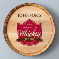Personalized Whiskey Barrel Signs - Oak Age - 20 diam.in. - The authentic Whiskey Barrel Signs - Oak Age adds a great rustic look to your home bar. Made of real oak, this whiskey barrel sign can be personalized with 20 characters and a year of your choosing. A wonderful gift for dad on father's day.About JDS MarketingLike many great start-ups, JDS Marketing started in a garage. It was 1992 when brothers Steve and Jeff Deters came up with their concept of developing a unique line of personalized wedding party gifts. JDS Marketing is based in Minnesota and delivers unique gifts that have been personalized by sublimation, diamond engraving, laser etching, digital printing, embroidery, and screen printing. JDS currently supplies personalized gifts to over 2,000 retail accounts, shipping several hundred gift orders each day.