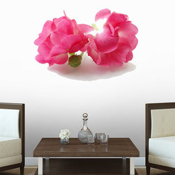 Wallmonkeys Wall Decals - Pink Roses Wall Decal - 18 Inches W x 14 Inches H, 60-Inch X 45-Inch - Easy to apply - simply peel and stick!