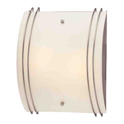 "Volume Lighting - Volume Lighting V6034 13.5"" Height Wall Washer Sconce with 2 Lights and White Gl - 13.5"" Height Wall Washer Sconce with 2 Lights and White GlassClassy and charming, this 2 light wall sconce features pristine white glass in a striking rectangle shade.Features:"