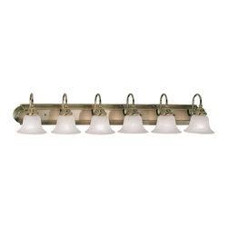 Livex Lighting - Livex Lighting 1006-01 Bath Light - Glass Type/Shade Type: White Alabaster Glass