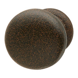 Hafele - Rust Cabinet Knobs - Hafele item number 125.88.050 is a beautifully finished Rust Cabinet Knobs. Product Diminsion(s): Hole Spacing: 457.2 mm. / 18 in.Diameter: 32.004 mm. / 1 1/4 in.Projection: 50.038 mm. / 1 31/32 in.