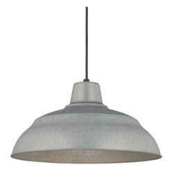 "Millennium Lighting - Millennium Lighting RWHC17 R Series 1 Light 17"" Wide Warehouse Pendant, Galvaniz - Features:"