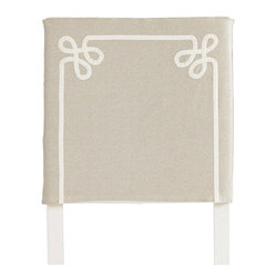 Squire Headboard Slipcover, Twirls