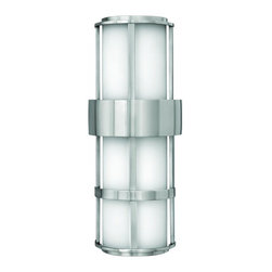 Hinkley - Hinkley Saturn Two Light Stainless Steel Outdoor Wall Light - 1909SS - This Two Light Outdoor Wall Light is part of the Saturn Collection and has a Stainless Steel Finish. It is Outdoor Capable, and Wet Rated.