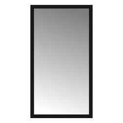"""Posters 2 Prints, LLC - 41"""" x 74"""" Soho Black Custom Framed Mirror - 41"""" x 74"""" Custom Framed Mirror made by Posters 2 Prints. Standard glass with unrivaled selection of crafted mirror frames.  Protected with category II safety backing to keep glass fragments together should the mirror be accidentally broken.  Safe arrival guaranteed.  Made in the United States of America"""