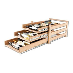 Wine Logic - Wine Logic In-Cabinet Wine Storage, 3 Tier (18 Bottles) - Wine Logic wine racks approach home wine storage with thoughtful design, quality craftsmanship and a connoisseur's insight. The result is a high-end wine storage solution that easily resolves the challenges of space, clutter, cost and more.
