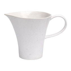 Casafina - Pitcher, Solid Speckled White - Organic shaped handmade Portuguese stoneware. Durable enough to be used everyday and beautiful enough to be used on special occasions.