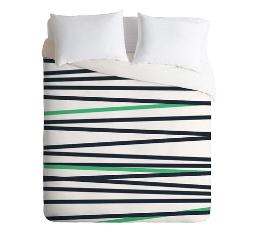 DENY Designs - Khristian A Howell Crew Stripe Cool Duvet Cover - Turn your basic, boring down comforter into the super stylish focal point of your bedroom. Our Luxe Duvet is made from a heavy-weight luxurious woven polyester with a 50% cotton/50% polyester cream bottom. It also includes a hidden zipper with interior corner ties to secure your comforter. it's comfy, fade-resistant, and custom printed for each and every customer.