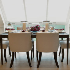 Traditional Dining Room by Laura Hammett Ltd