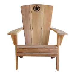 Douglas Nance - Set of 2, Lone Star Adirondack Chairs - The Lone Star Adirondack Chair is a first of its kind from Douglas Nance.