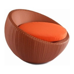 Lebello - Lebello | Circle Lounge Chair - Sit back, relax, and sink into the Circle Lounge Chair. Whether lounging poolside or taking a respite on the patio, the Circle Lounge Chair lets you sit in style and comfort. The Circle Chair features a spherical design with a woven body available in twelve different colors. For additional comfort, the Circle Lounge Chair seat cushion is available in a variety of colors in both Sunbrella® and  Sunproof/Texsilk® performance fabrics with a core made of QuickDryFoam™.