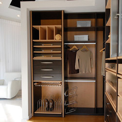 Custom Closets - It is probably wise if you take a little time to do some researching into what closet design best fits your space. Custom closets are a viable option since they are built on any space size available. With the help of a talented designers you can take your closet space to the next level. For almost a decade Dayoris has built these elegant wardrobes for all south Florida. Bring us your ideas and we'll take care of the rest.