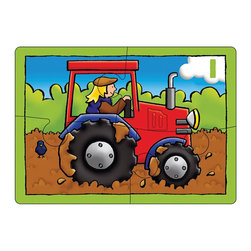 """The Original Toy Company - The Original Toy Company Kids Children Play Farm Four in a Box - Use these bright puzzles of favorite farm pictures and begin to count. Puzzle size- 8.25""""x 6"""" Ages 3 years plus. 4,6,8 & 12 pieces. Made in England."""